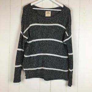 Hollister Knit Sweater Small Striped